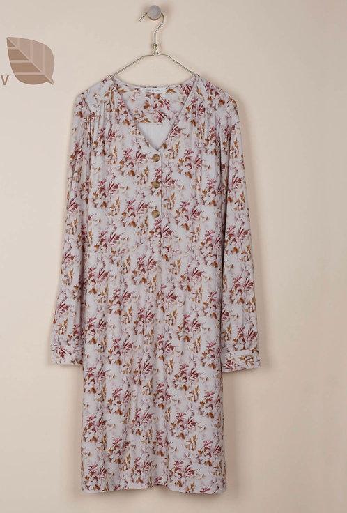 indi & cold - Alice Floral Dress - Ecru