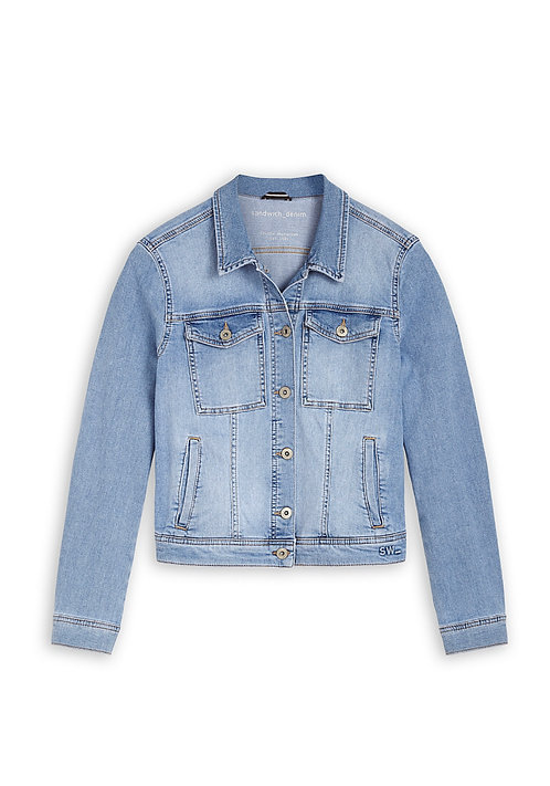 Sandwich -Jacket -Light Blue Denim
