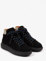 Penelope Chilvers - Apollo Suede High Top Trainer - Black