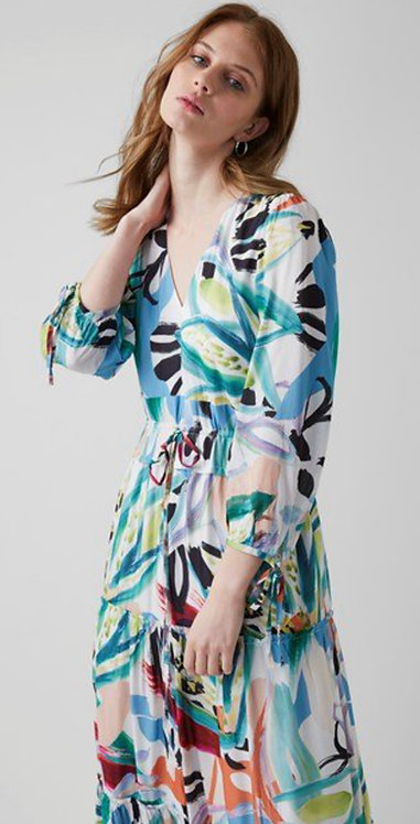 Great Plains -Tropical Print - Maxi Dress