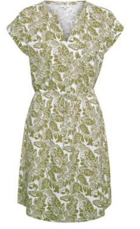 Part Two - IIimaPW Dress - Oliove Drab Block Print