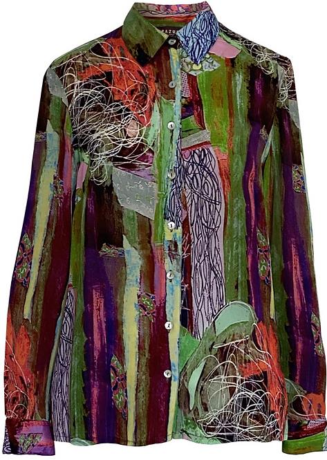 Pazuki Concordia - Crepe De Chine Classic Shirt - Bright