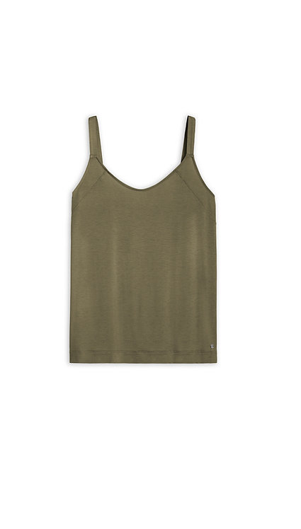 Sandwich -Sleeveless T Shirt -Spring Olive