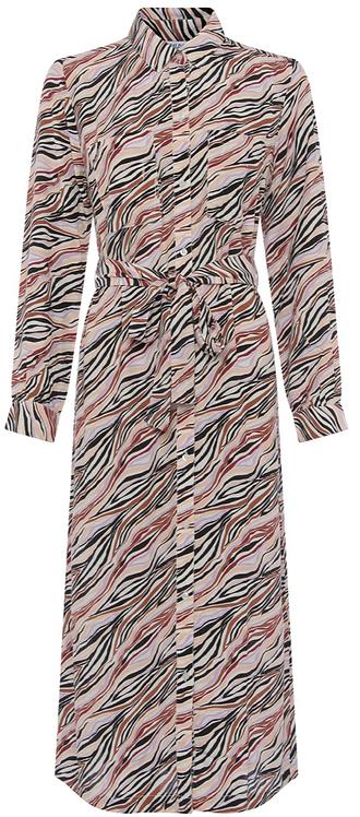 Great Plains -Abstract Zebra Shirt Dress