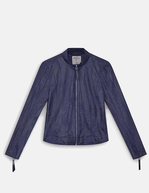 Sandwich - Stand Collar Jacket -Navy