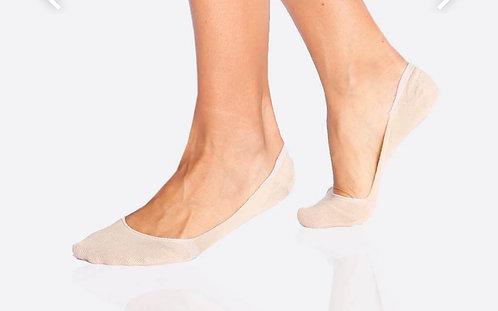 Boody -Womens Low Hidden Socks - Nude