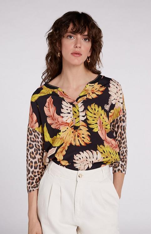 Oui - T shirt with Autumnal Motifs