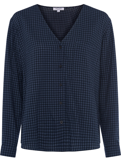 Great Plains - Micro Gingham VNeck Top