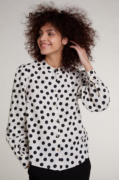 Oui -Linen Blouse -Dots