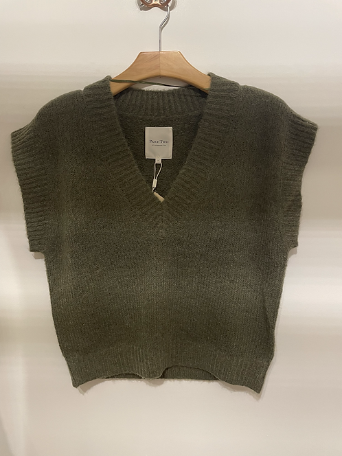 Part Two -KarinePW Knitted Waistcoat - Kalamanta