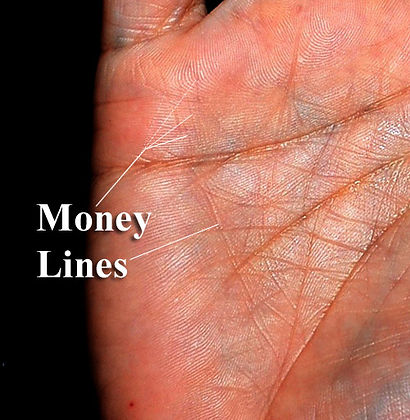 money wealth lines palmistry