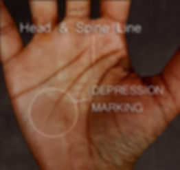 depression markings on your palms