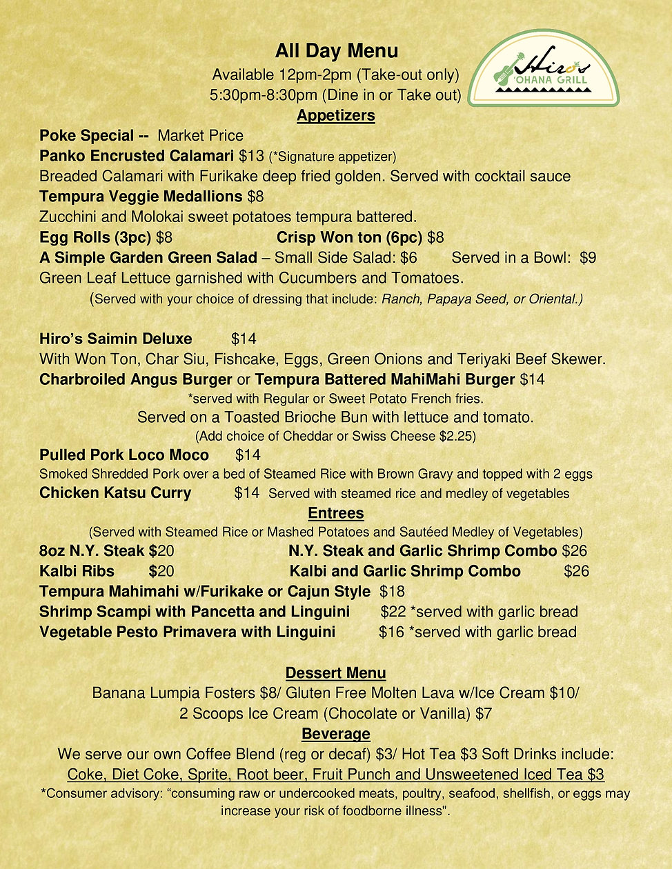 New Menu with New Hours jpeg revised 1-1