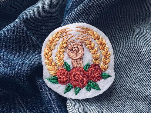 """Нашивка """"Хлеб и розы"""""""