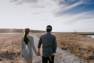 Fighting the Wind | Texas Engagement Photographer