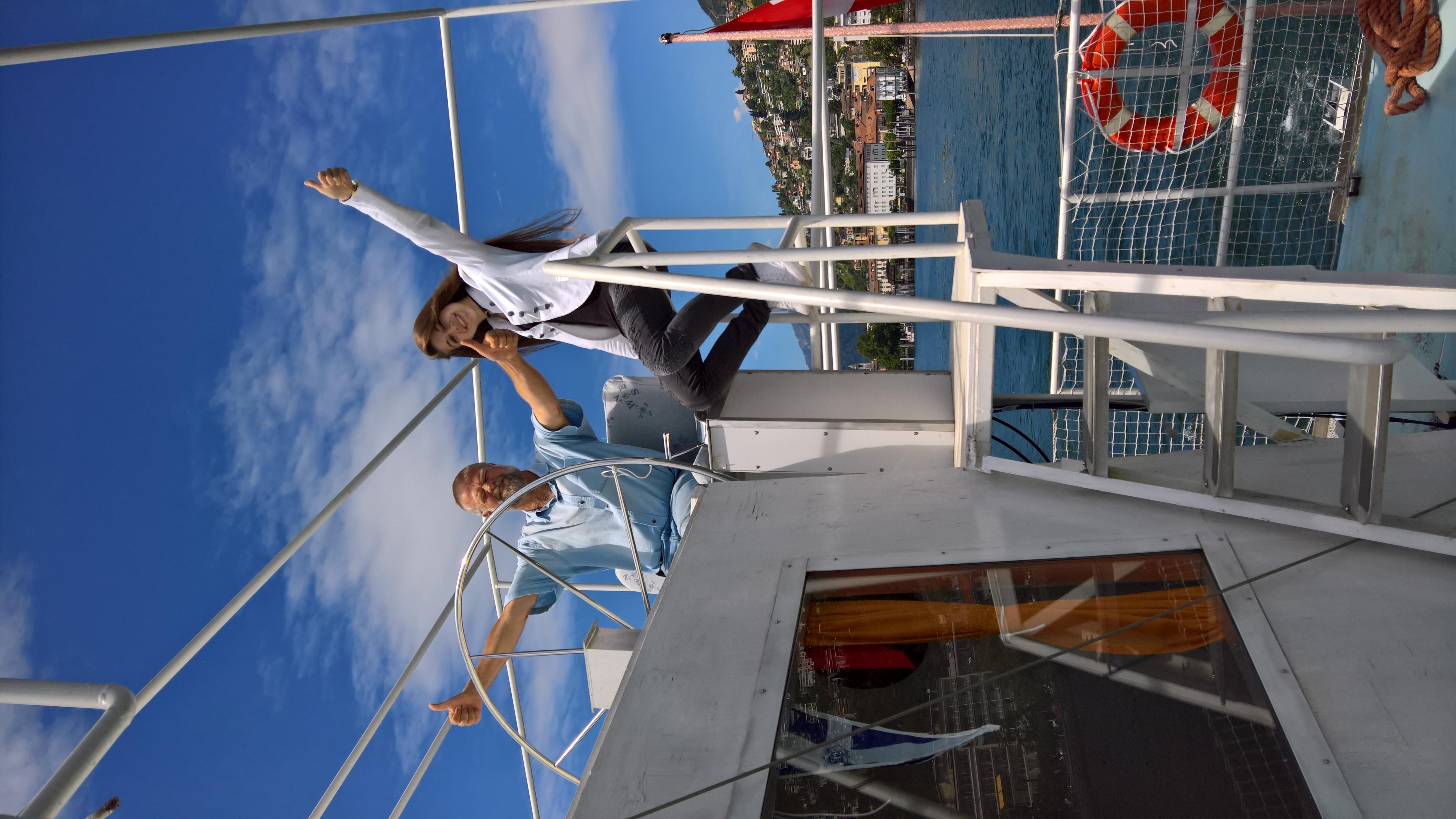 "Tanimara a bordo del ""Tanimara III"""
