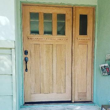 Wood exterior door installation
