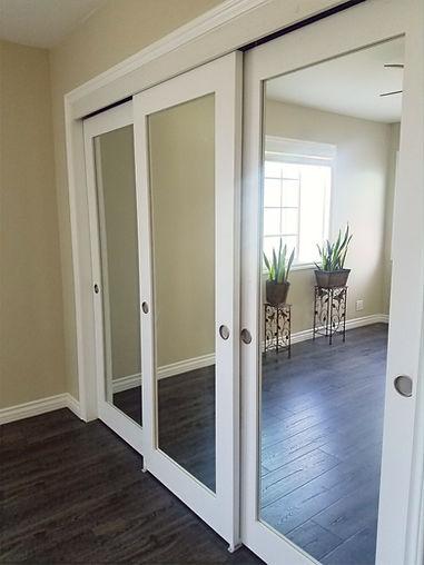mirrored glass door installation orange county ca