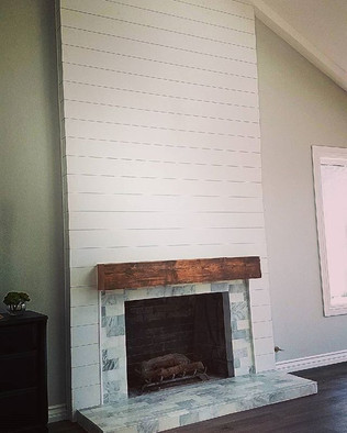 Fireplace remodeling #shiplapfireplace