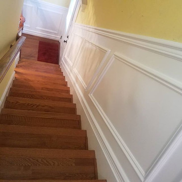 All done_Wainscoting on both landings an