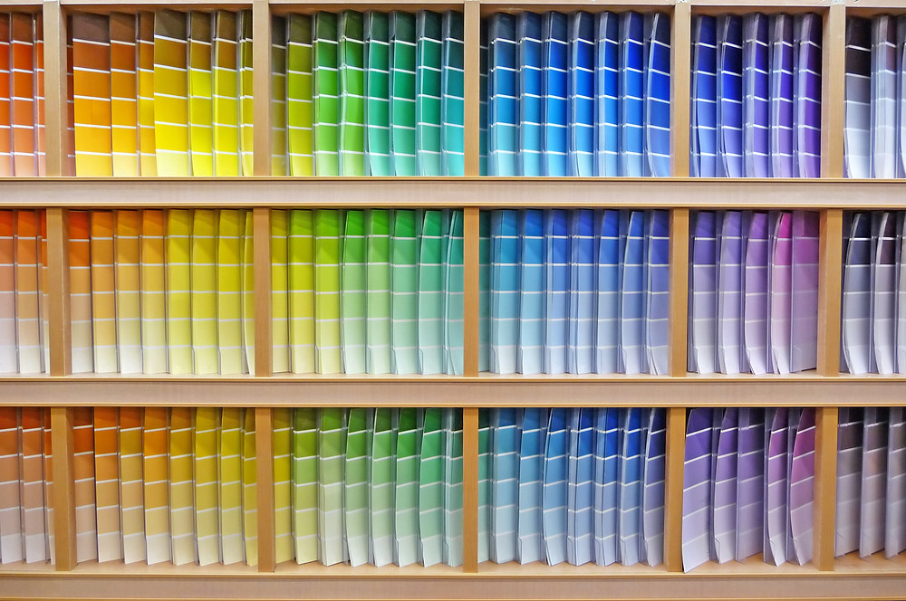 Variety of colors paint samples