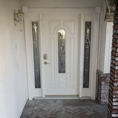 Front Door Installed with 2 sidelites