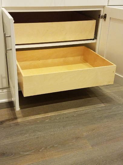 kitchen cabinet with drawers