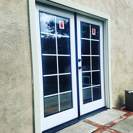 New Fiberglass french doors installed ju