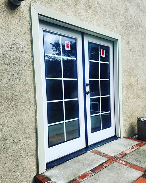 New Fiberglass french doors installed ju