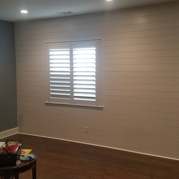 Ship-Lap Accent Wall installation