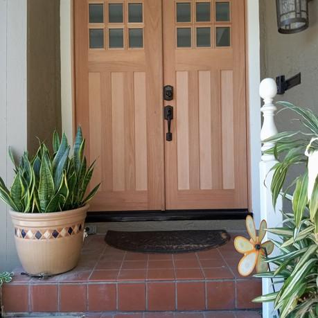Double Craftsman Style Door with 6 lights