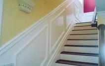 Stairway wainscoting _#integritywoodwork