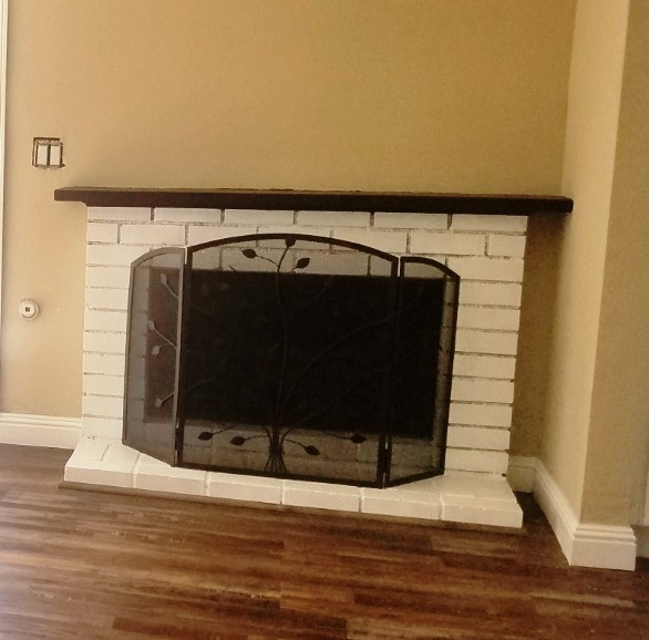 Integrity Woodworking, Westminster, CA, Paint, Paint fireplace, upgrade your fireplace,white brick