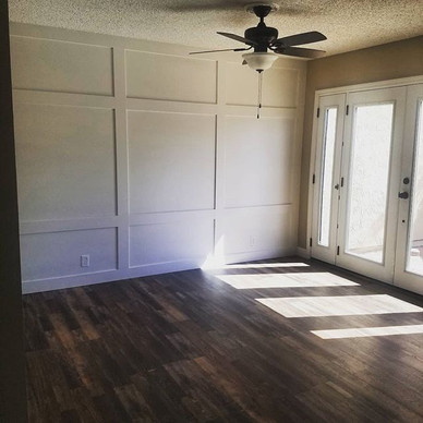 New Accent Wall, _New French doors with