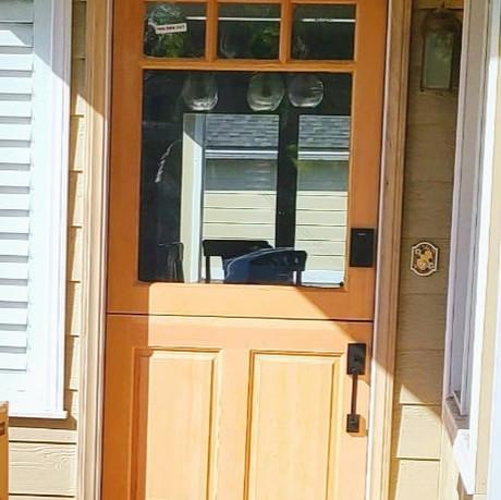 Craftsman style dutch door