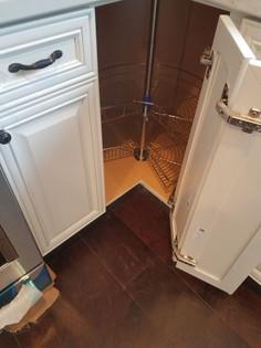 corner cabinet installation