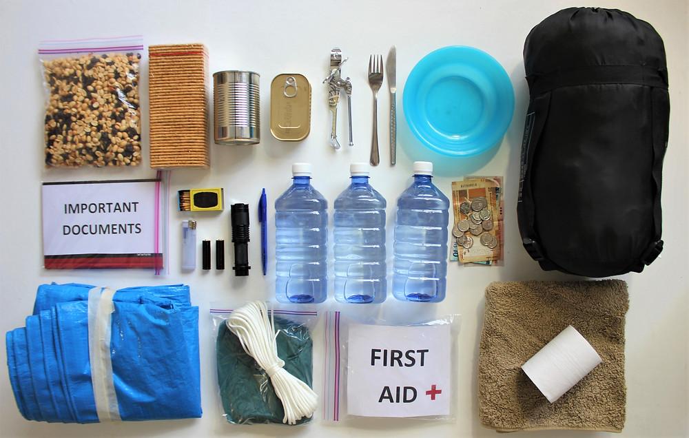 Earthquake preparness kit - be prepared