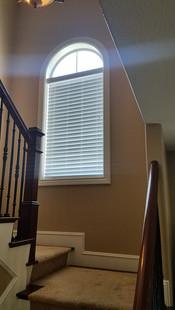 trim installation on stairs