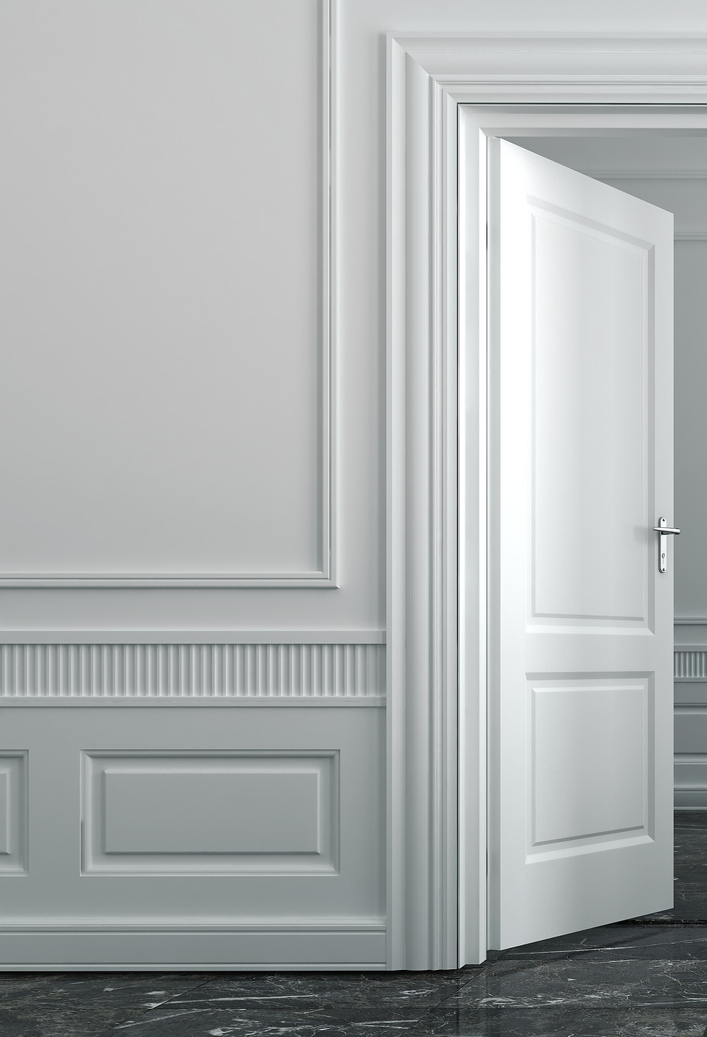 Trim Molding with Wainscotting