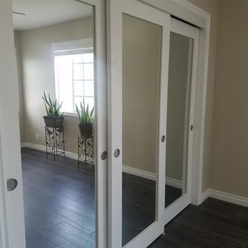 3 mirrored closet doors