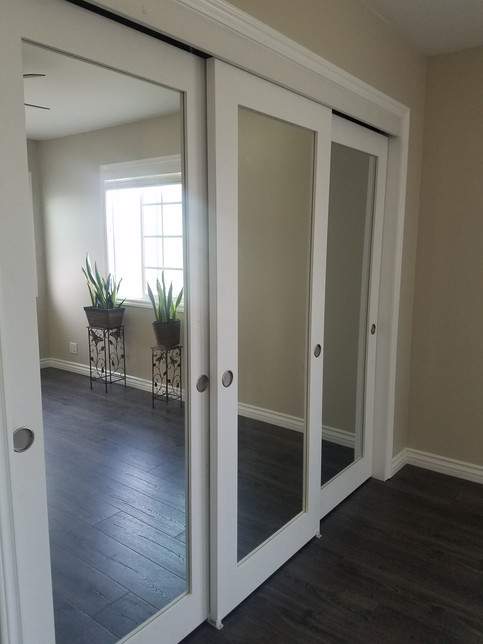 3 mirrored closet doors