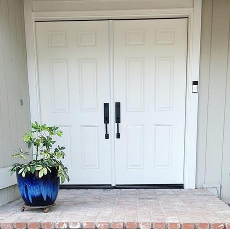 Six Panel Double front door