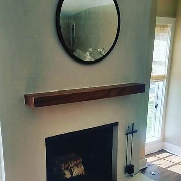 fireplace mantel installation