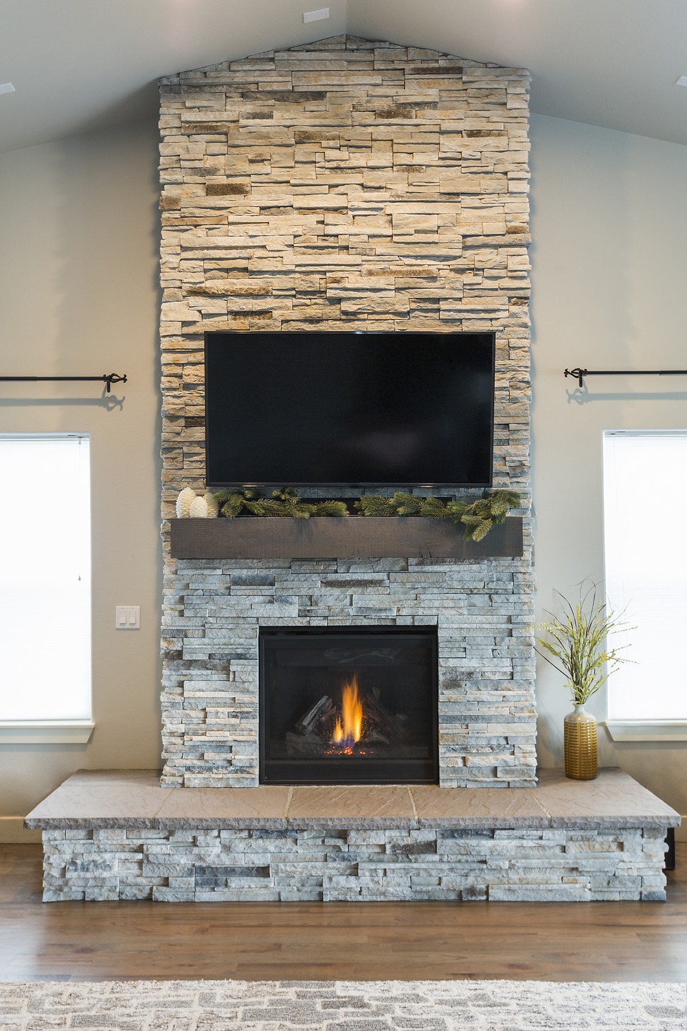 Integrity Woodworking, Stone Fireplace, Rustic Rock, Earthy Feel, Upgrade your fireplace