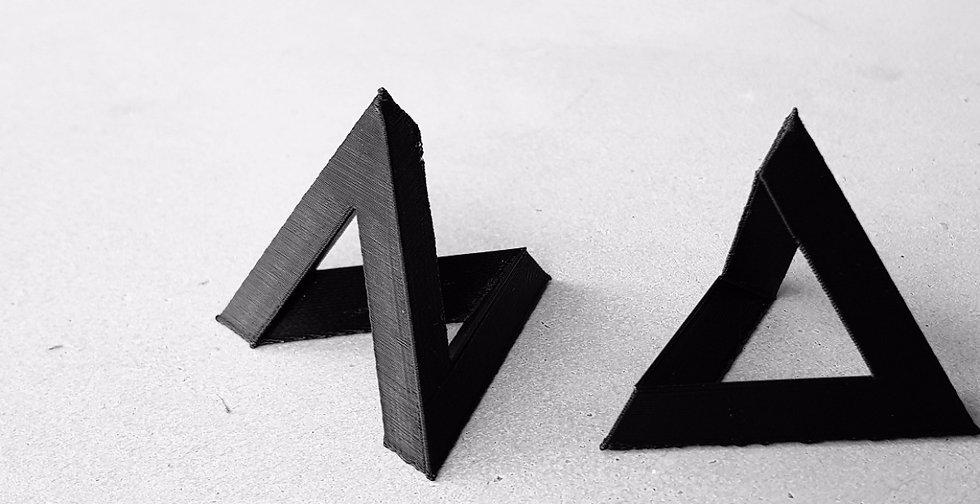 Impression 3D, 3D Print, Tetrahedron, black, concrete