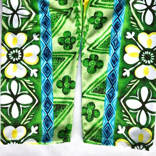 Green Capri Leggings