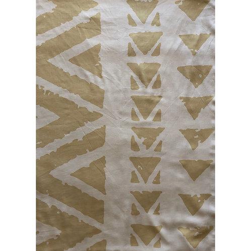 Khaki on Off-White Cardigan Wrap