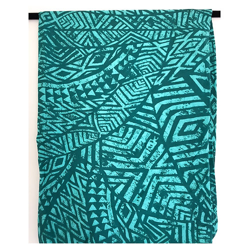 Turquoise on Teal Cardigan Wrap