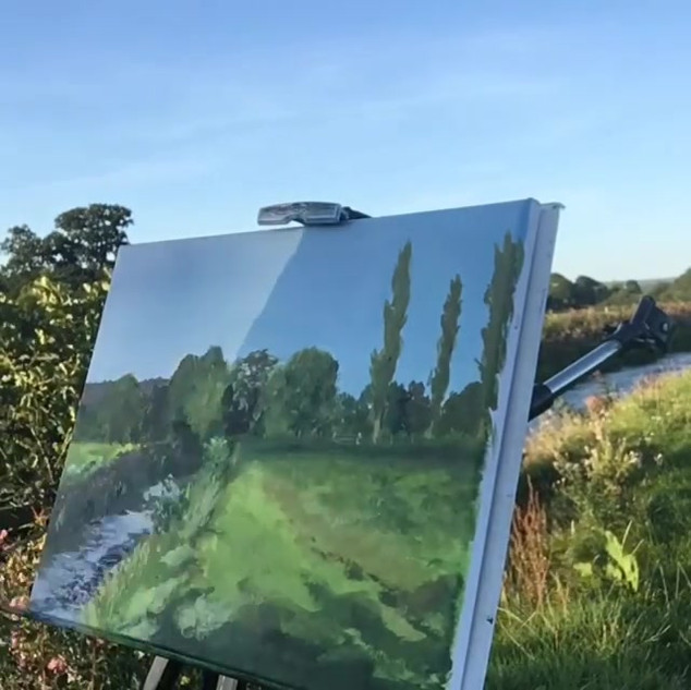 Painting by the River Culm#pleinairpaint