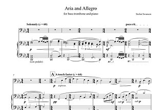 ARIA AND ALLEGRO (bass trombone and piano)